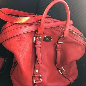Burnt orange Michael Kors purse